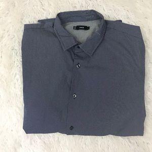 Vince blue button down shirt size L